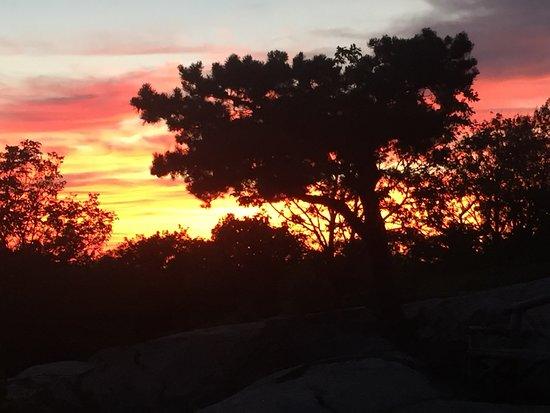 Beautiful sunset from Perkins Memorial Drive