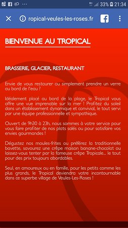 Vu Sur La Mer Picture Of Brasserie Le Tropical Veules Les Roses