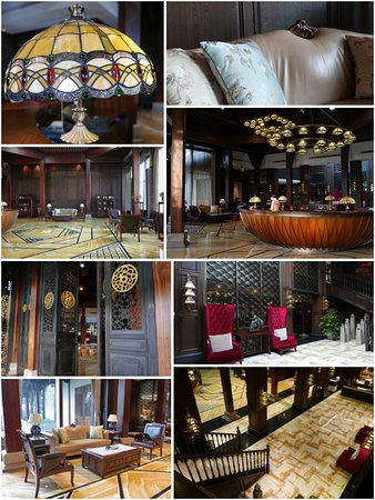 大堂非常漂亮,紅木結構搭建而成,置放了西式老式樣的傢俱