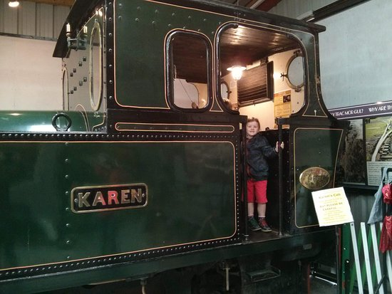 Welsh Highland Heritage Railway: An engine in the museum which visitors are free to climb on board