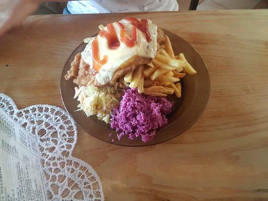 "Jarnoltowek, Poland: ""Babski kotlet"" -z ananasem"