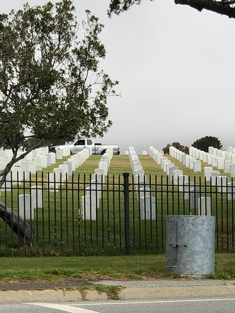 view of the cemetery