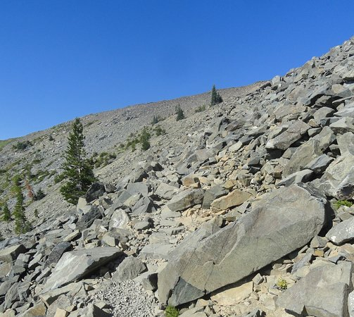 Mt. Tallac Trail: If you are thinking of quitting the sight of this will make you decide pretty quick.