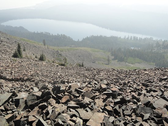 Mt. Tallac Trail: The view from the top of the scree field. The worst is over at this point.