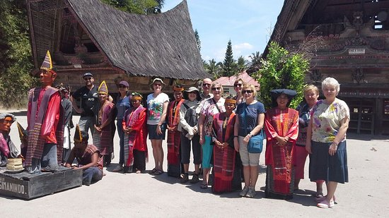 Deli Serdang, Indonesia: Group from Estonia in Simanindo