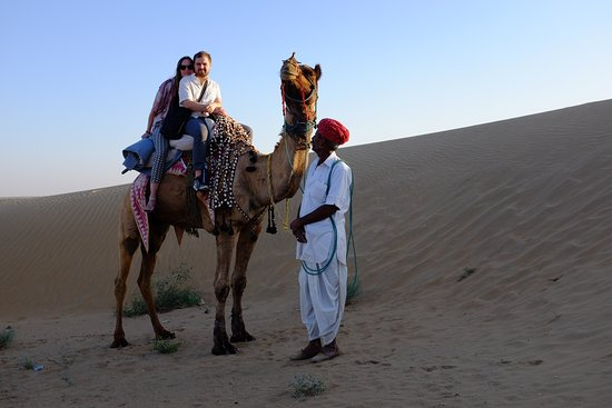 Pokaran, Indien: My Respected Guest Tobias Lauer And Nike Bodenbany Camel Riding At Registan Desert Safari Camps