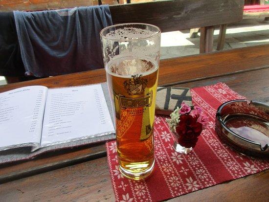 Fleres, Италия: birra e posta tavola