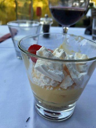 Riverside Brasserie: Lemon Meringue - already partly eaten by me!