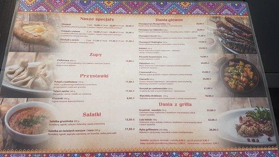 Menu Picture Of Chinkalnia Restauracja Gruzinska Wroclaw