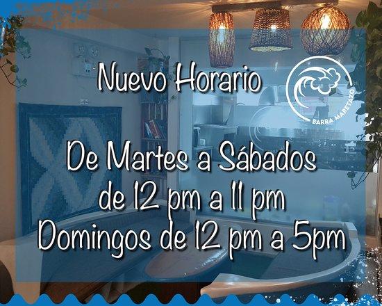 NUEVO HORARIO, ahora también abrimos todos los Martes de corrido de 12pm a 11pm