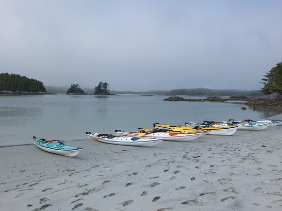 Heriot Bay, Canada: first camp site of our excursion