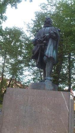 Monument of Jakub Krcin: Socha zakladatele třeboňských rybníků u rybníka Svět