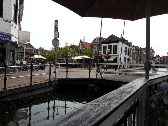 Maassluis, Belanda: Interieur en gezicht vanaf ponton.