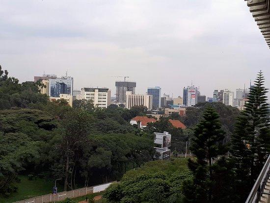 Sarova Panafric: view downtown from my balcony at the Panafric