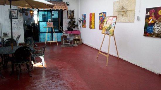 Tuxtla Gutierrez, Mexico: expo en patio