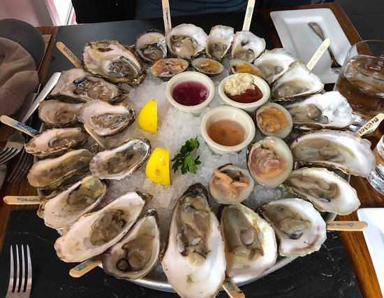 Bristol, RI: raw oysters and clams