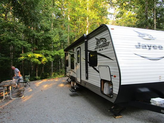 Huddleston, VA: Site specific trailer site that you reserve ahead