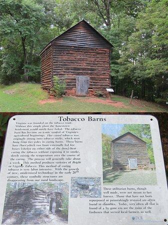 Huddleston, VA: Old tobacco barn in the state park