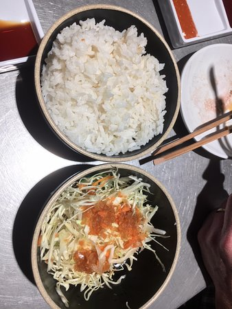 Ashfield, Australia: Rice and salad