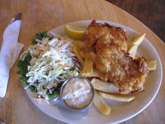 Veneta, Орегон: fish and chips