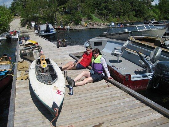 French River, Canada: Jaroslaw Frackiewicz & Celina Mroz, July, 2009, They were murdered in Peru by Indians in 2011