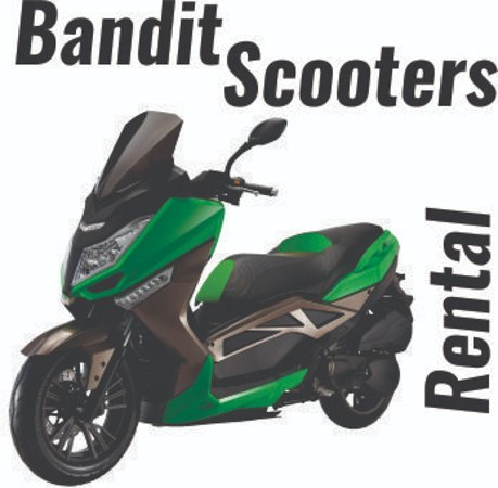 Bandit Scooter Rental, this scooter is T9, very comfortable