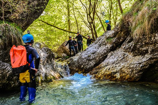 Bovec, Slovenien: canyoning