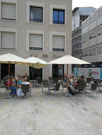 Terrasse Mit Ausblick Picture Of Cafe Jolie Am Donaumarkt