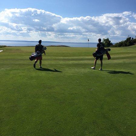Fin golfanläggning med bra mat och härlig bana