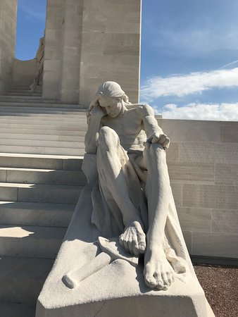 At the foot of the Vimy memorial, a father grieving for his lost sons