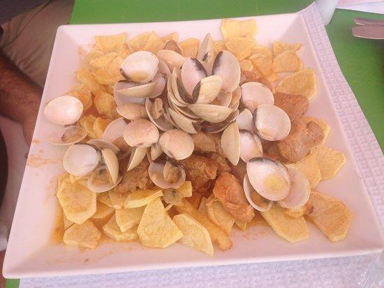 Gafanha da Boa-Hora, Portugal: Almejas con carne