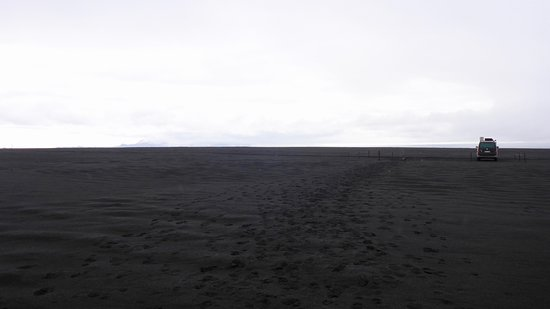 Askja: schwarzer Sand
