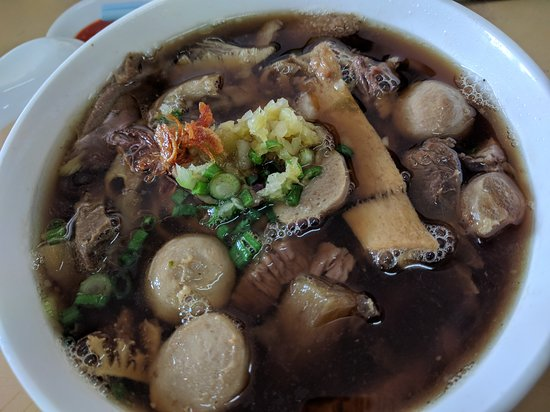 Tangkak, Malaysia: mixed beef noodle soup...