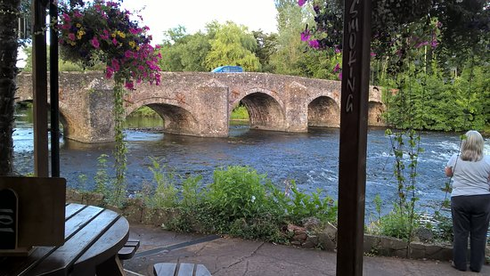 Bickleigh, UK: View from the pub.