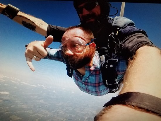 Weedsport, NY: Hard to tell with weird beard in the way, but I was smiling all of the way down...