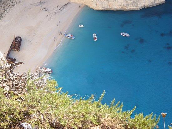 Navagio Beach: The beach from the clifftop