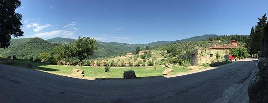 Santa Brigida, Italy: View from castle from door