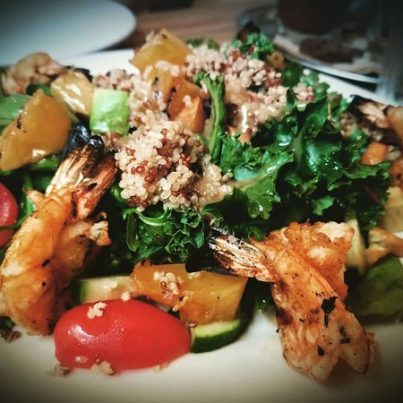 Devils Isle: Grilled Shrimp Salad. Shrimp is seasoned very well. Best salad we had.