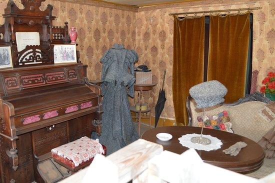Virginia City, MT: A seamstress shop.