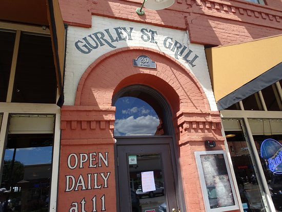 Gurley St. Grill: Menu is posted on side of door