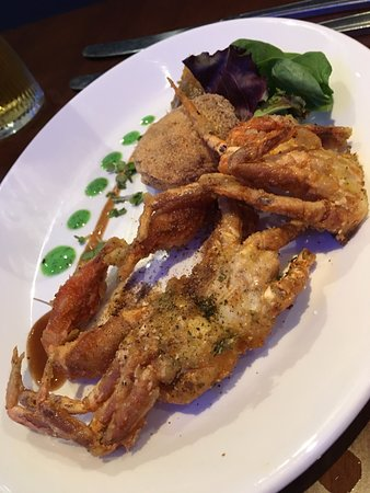 Bexhill-on-Sea, UK: Soft shell crab starter