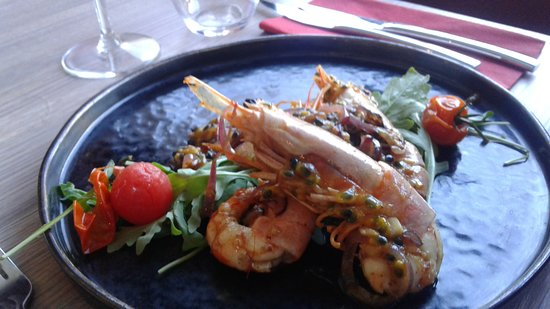 Auvelais, Bélgica: Les crevettes en suggestion