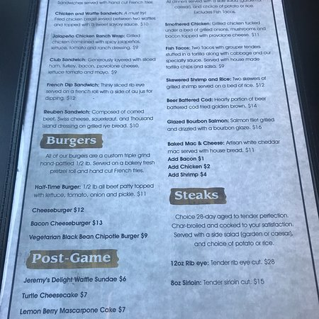 Clare, MI: Menu as of 8/4/18