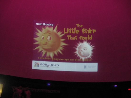pre-show clip - Picture of Morehead Planetarium and Science