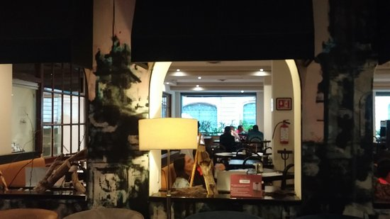 View into the Hotel Catedral restaurant