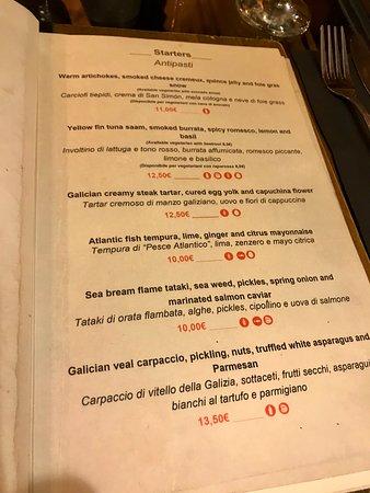 Fiori Bianchi Basilico.メニュー Picture Of Restaurante Arume Barcelona Tripadvisor