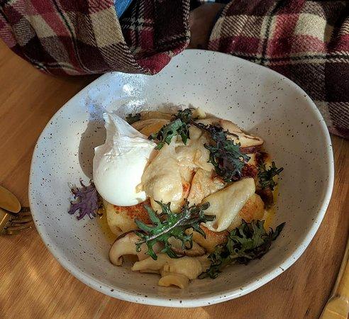 Potato gnocchi and poached egg