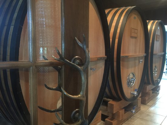 Owenton, KY: wine vats in the Elk Creek Winery
