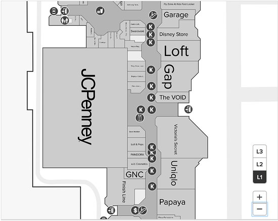 Map of VOID location within the mall - Picture of The VOID, Glendale Galleria Mall Store Map on park place store map, smith haven mall stores map, tysons corner virginia map, dallas galleria store map, galleria mall dallas map, pier park store map, galleria mall gift cards, menlo park mall stores map, galleria mall directory, galleria mall store list, galleria mall dress stores, roseville galleria mall map, valley view center store map, houston galleria stores map, tysons mall map, downtown store map, arundel mills mall stores map, sawgrass mills store map,