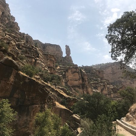 shirez canyon in summer amazing , weather is hot but worth to visit you can cool down in river a